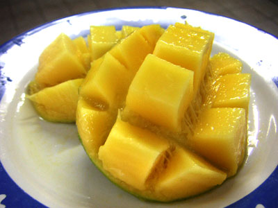 マンゴーの正しい切り方