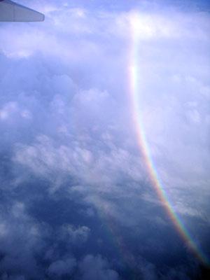空からみた虹