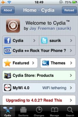 Cydiaの画面