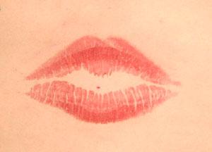 ベストリップ賞に輝いた石沢綾子さんの唇