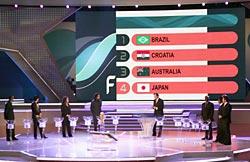 日本はブラジルと同組、初戦は豪州−W杯ドイツ大会