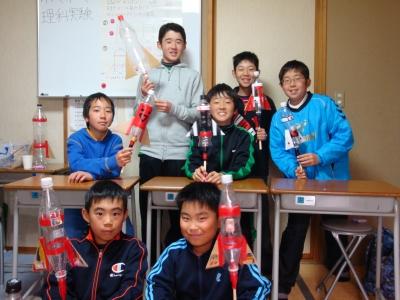 石岡教室ロケット製作