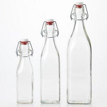 【保存容器一覧 無印良品】 <果実酒用ビン> サイズ:1L~ 価格 :¥1,300(税込)~ <小分け用ビン> サイズ:250ml~ 価格  :¥1,000(税込)~