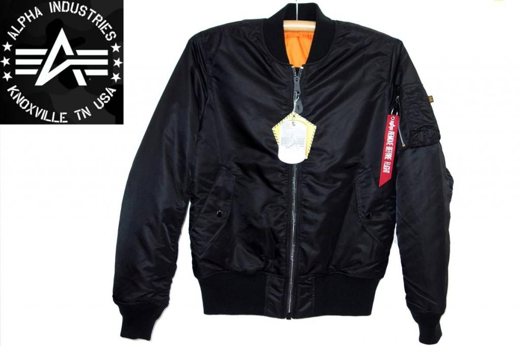 アルファインダストリーズALPHAMA-1タイトフィット黒20004フライトジャケット