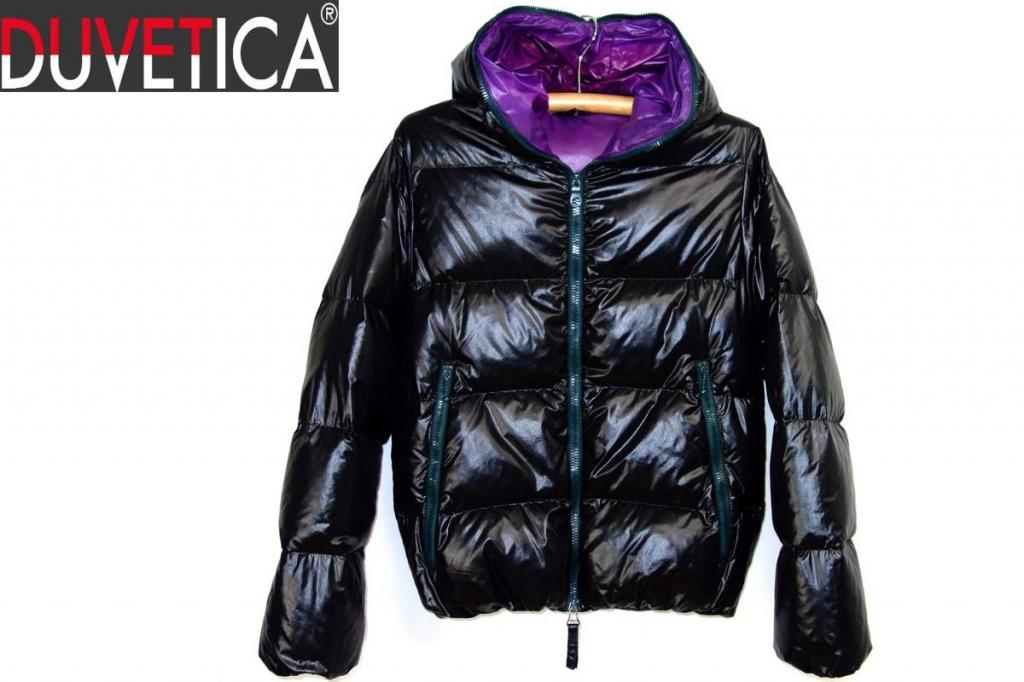 デュベティカDUVETICAディオニシオDIONISIOフードダウンジャケット黒紫