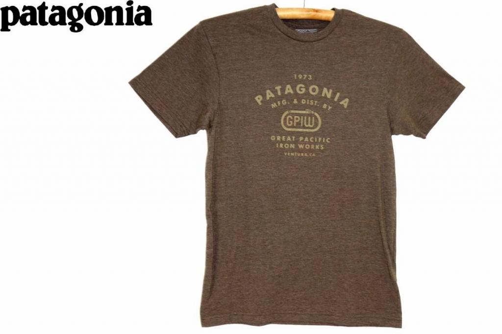 パタゴニアPATAGONIAスリムフィットTシャツ茶