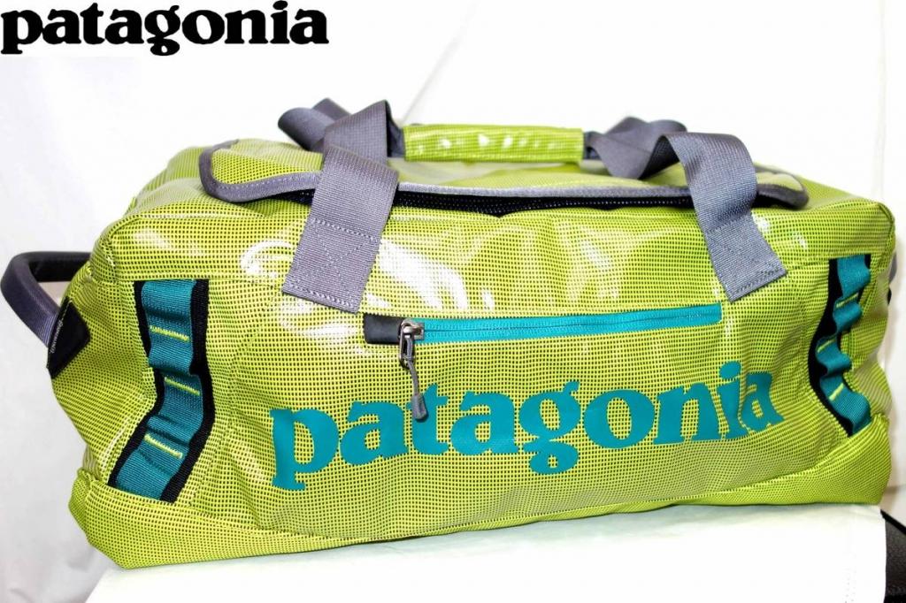 パタゴニアPATAGONIAブラックホールダッフルバッグBLACKHOLEDUFFLE45L黄緑49335