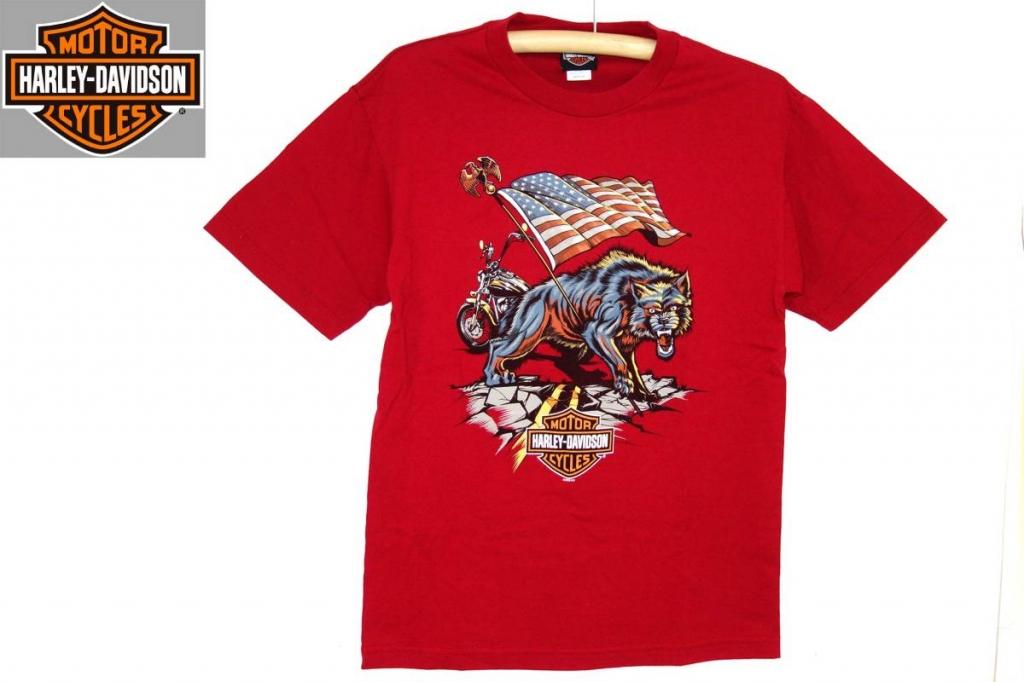 ハーレーダビッドソンharleydavidsonTシャツ赤M