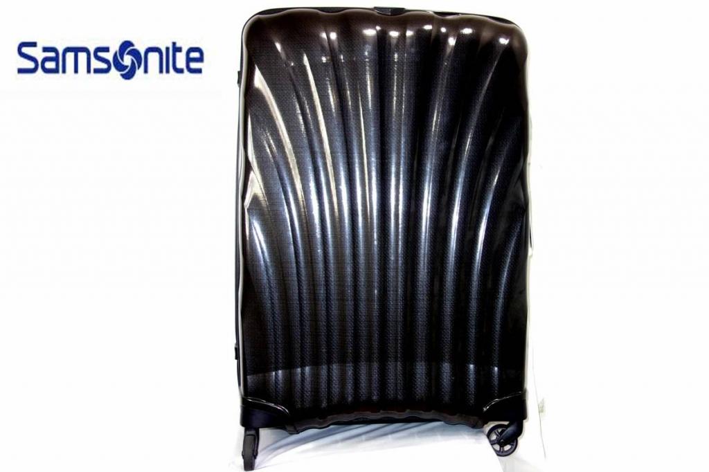 サムソナイトSamsoniteスーツケースコスモライトスピナーCosmoliteSPINNER超軽量衝撃耐性最強黒