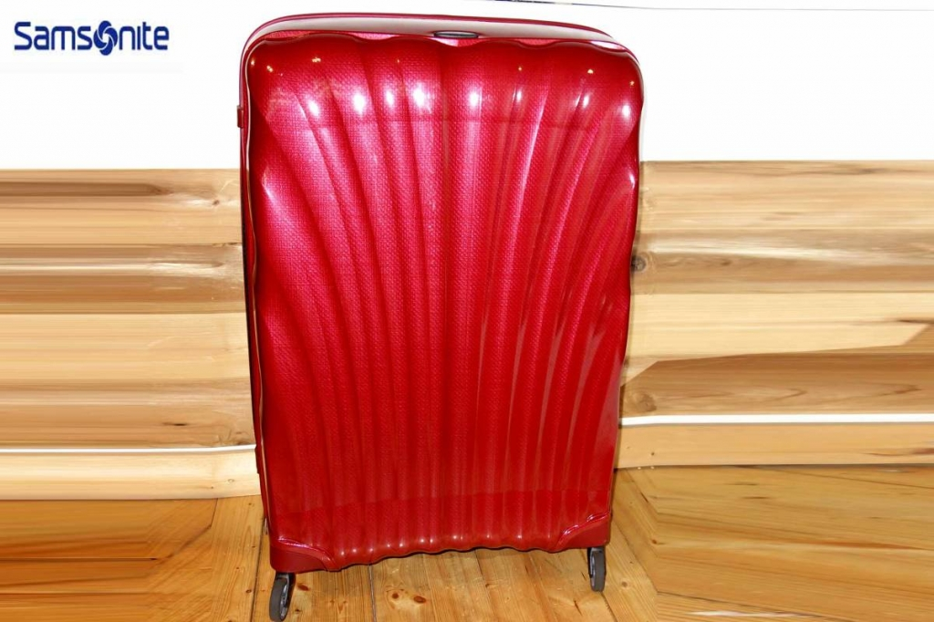 サムソナイトSamsoniteスーツケースコスモライトスピナー86/144L赤CosmoliteSPINNER超軽量衝撃耐性最強