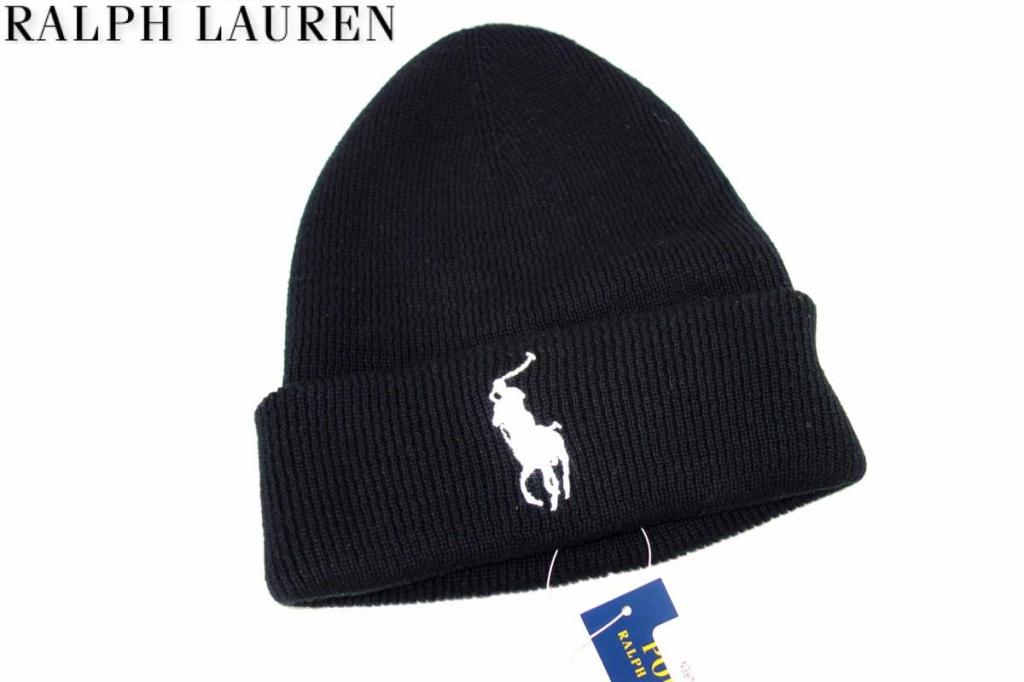 RALPHLAURENラルフローレンビッグポニーニット帽