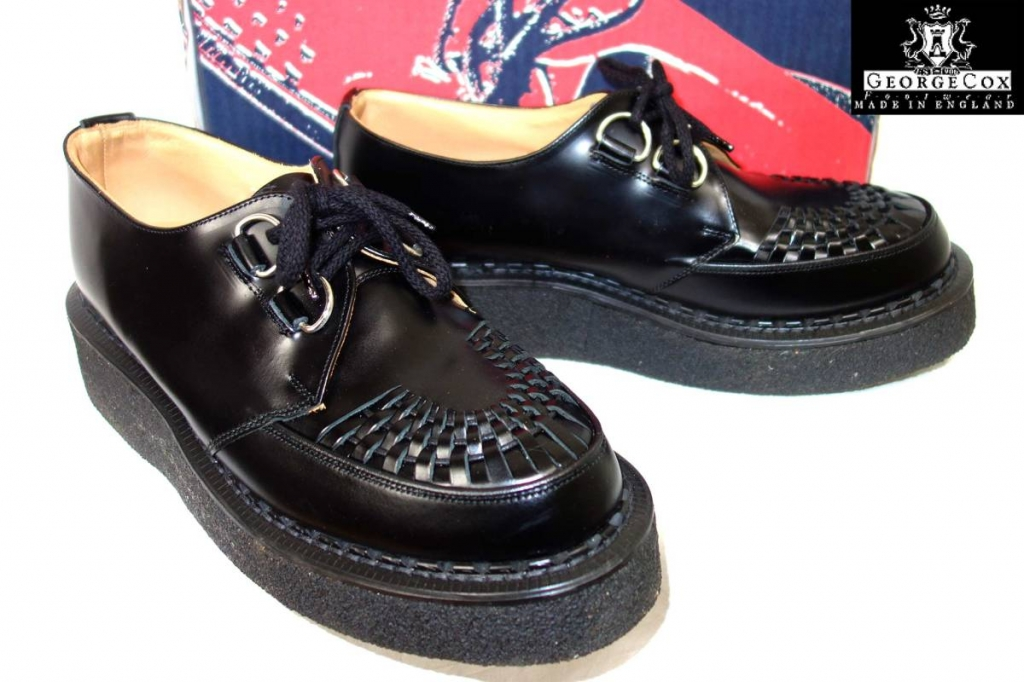 ジョージコックスgeorgecoxギブソン3588クリーパーソールラバーソール英国製黒