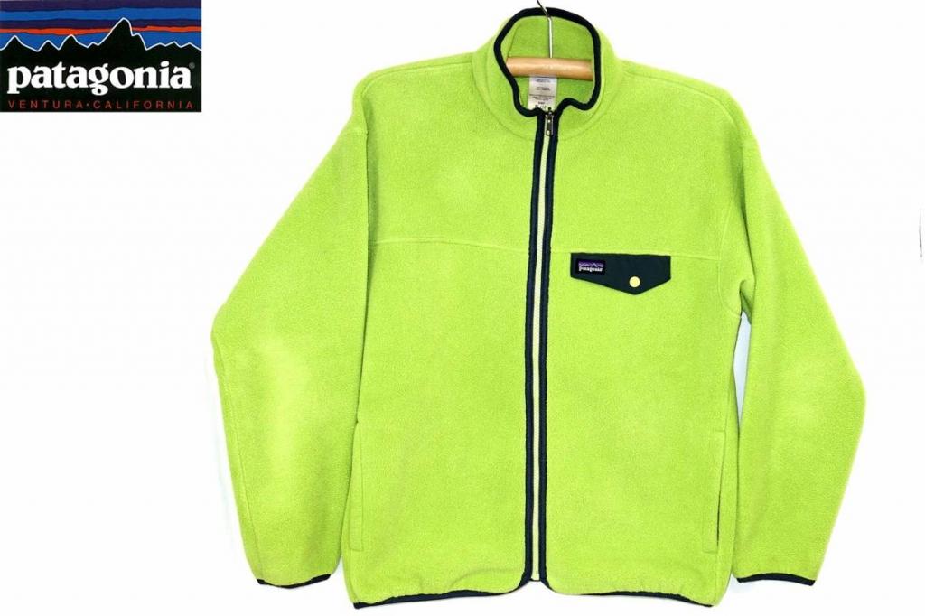パタゴニアPATAGONIAシンチラスナップジップジャケットキッズ緑XL/Kids'SynchillaSnap-ZipJacket2008年65655