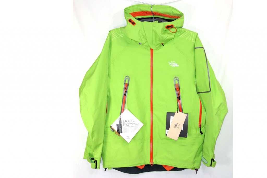 ポールワーズPOLEWARDSマウンテンパーカーポーラーエクストリームDFジャケットPW013A0010黄緑LPOLAREXTREAMDFJKT