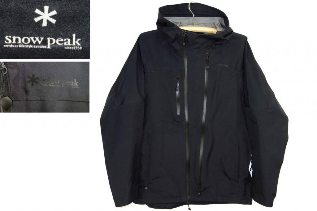 スノーピークSnowPeak3レイヤーレインジャケットJK-15SU001黒XL