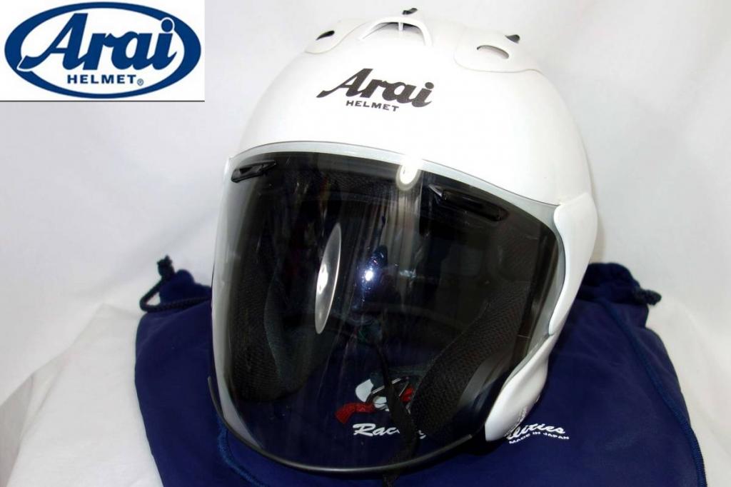 アライヘルメットARAIHELMETMZヘルメットグラスホワイト59-60 10年5月