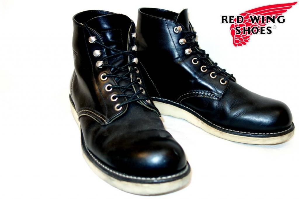 レッドウィングREDWINGブーツブーツ9070プレーントゥ黒7D