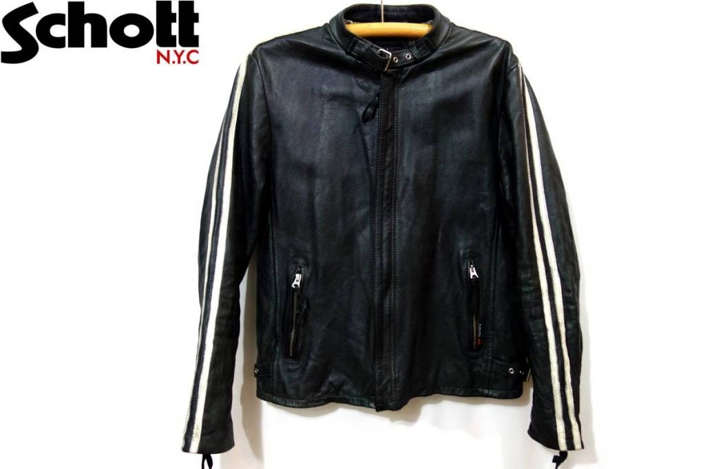 ショットSCHOTTクラシックレーサー 品番3181010 シングル加工ライダースジャケット