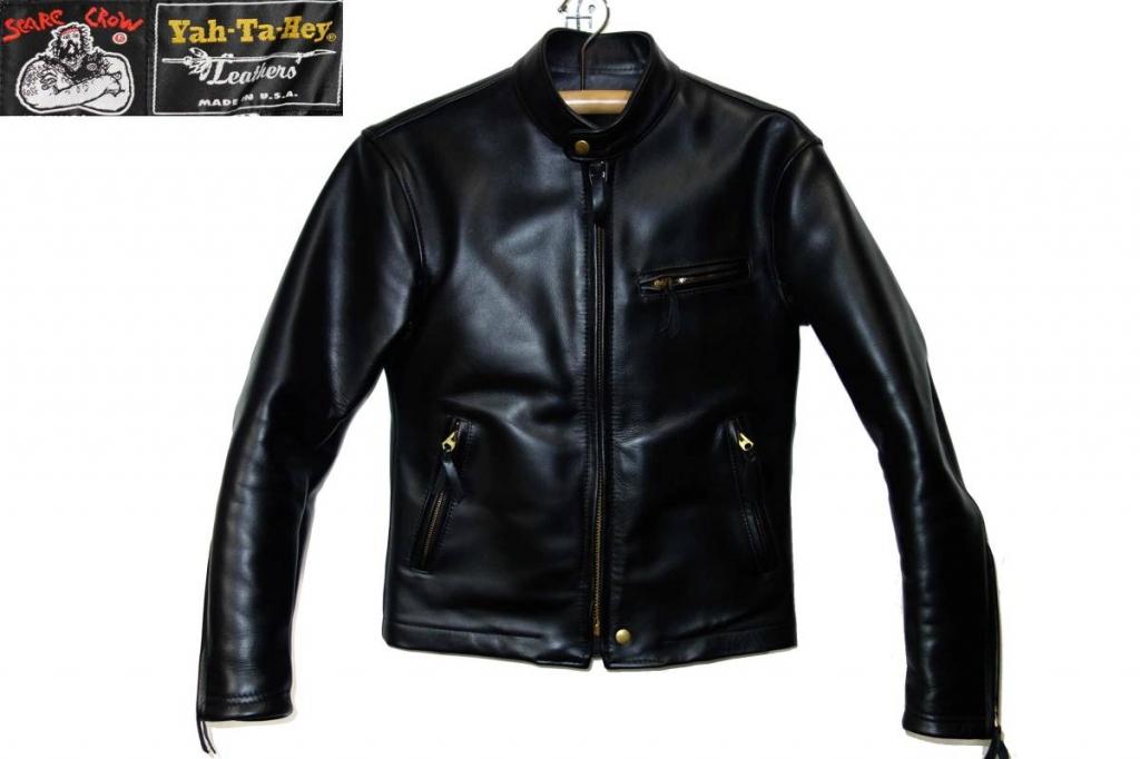 お買取り商品スケアクローカンパニーヤタヘイレザーSCARE CROW COMPANY Yah-Ta-Hey Leather極厚シングルライダースジャケット