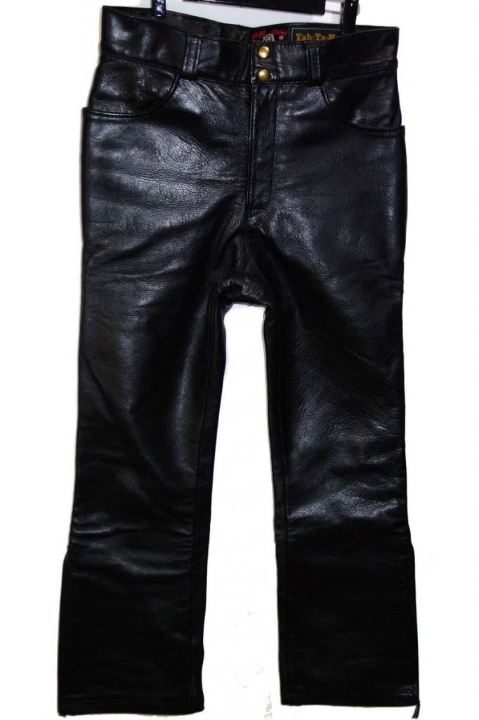 お買取り商品スケアクローカンパニーヤタヘイレザーSCARE CROW COMPANY Yah-Ta-Hey Leatherホースハイドレザーパンツ38黒