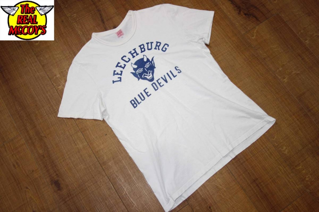 お買取り商品ザ・リアルマッコイズThe REAL McCOY'SジョーマッコイjoeTシャツ白38BLUE DEVIL