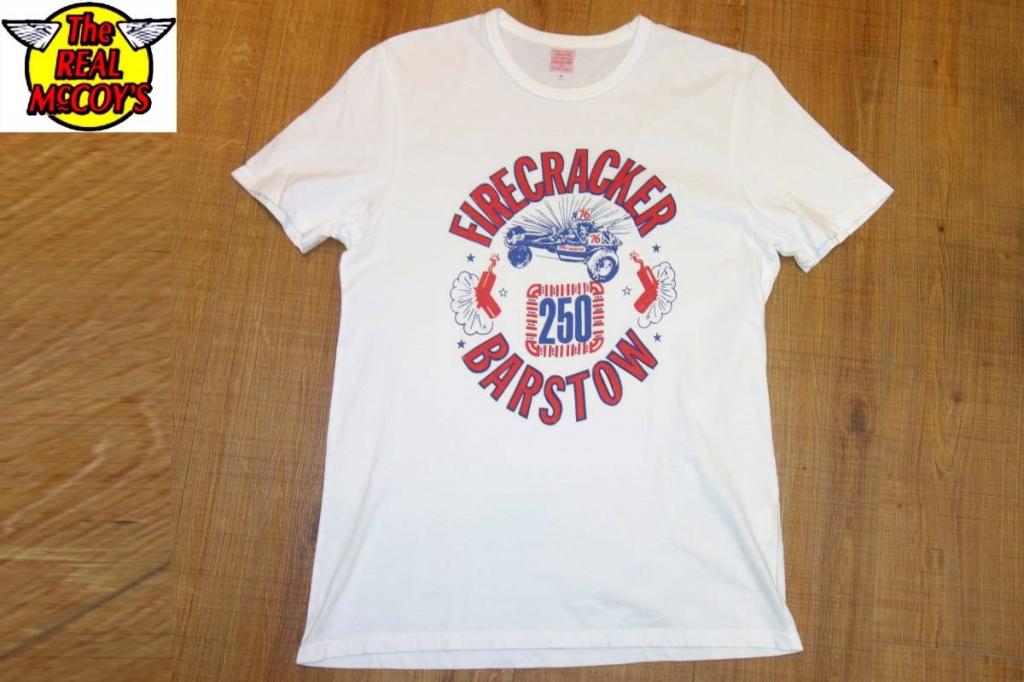 お買取り商品ザ・リアルマッコイズThe REAL McCOY'SジョーマッコイjoeTシャツ白38FIRECRACNER