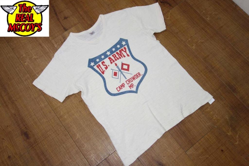 お買取り商品ザ・リアルマッコイズThe REAL McCOY'S AMERICAN Tシャツ生成り42 US ARMY