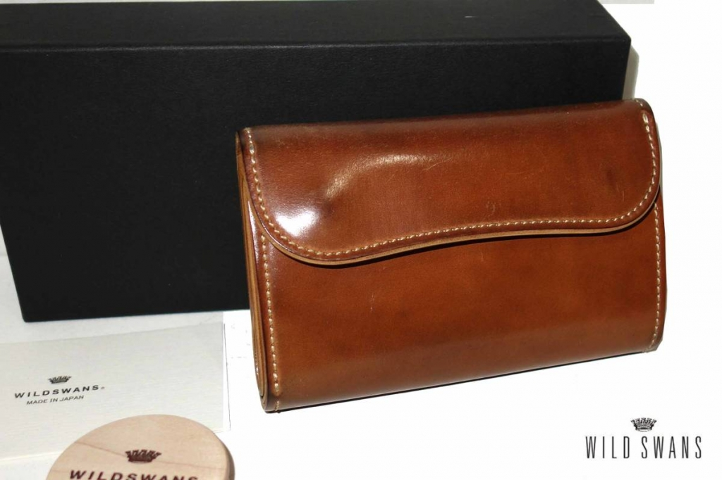お買取り商品ワイルドスワンズWILDSWANSホーウィンコードバンBYRNE3つ折り財布バーンナチュラル
