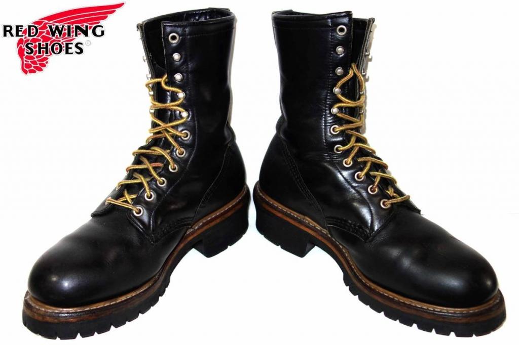 お買取り商品レッドウィングREDWING美品PT91ロガーブーツ2218 9と12 ワイズD 黒