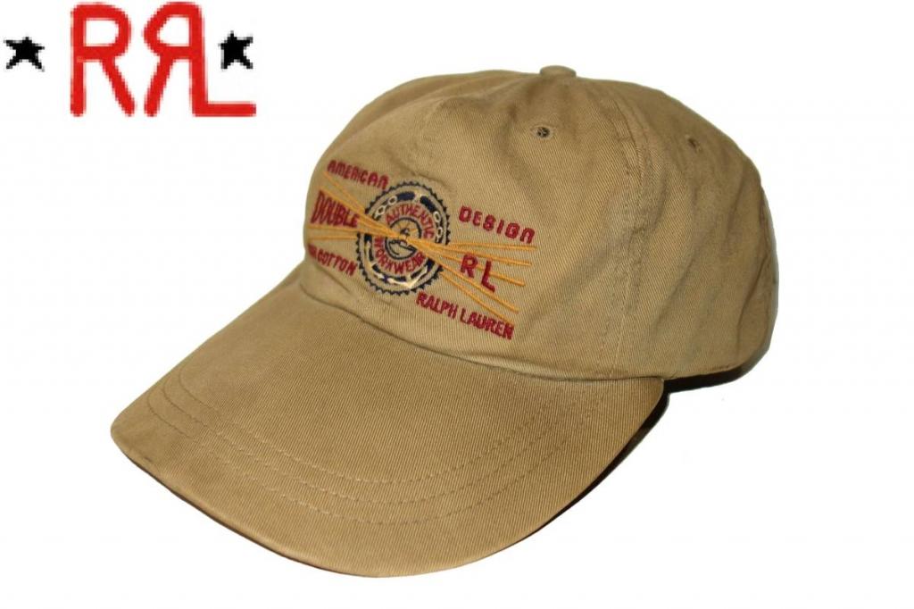 お買取り商品RRLダブルアールエルdoubleWRLRALPHLAURENラルフローレンキャップベージュUSA製帽子