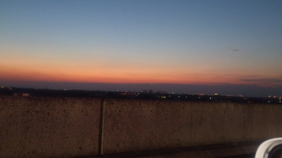 アクアラインからの夕日