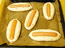 ソーセージパン成型4