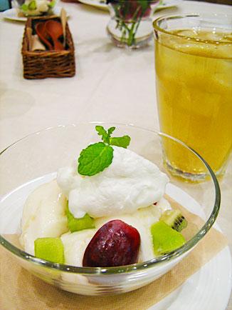 白桃のブラマンジェ