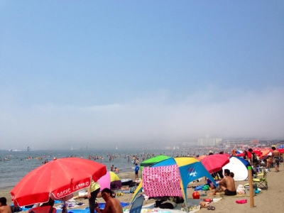 真夏の逗子海岸