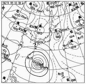天気図2009-08-05