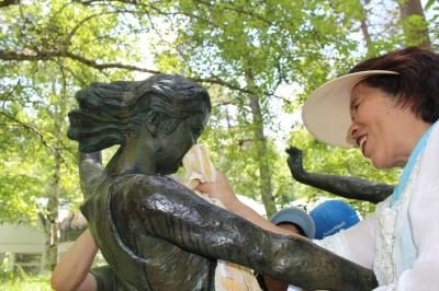 八ヶ岳美術館 彫刻 クリーニング