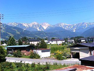 絶景の白馬の山々