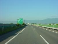 朝6時過ぎの長野道