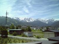 新緑&残雪&青空が素晴らしいです!!