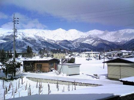 郷でも5cm以上の積雪