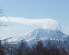 活火山です