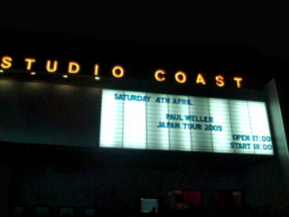 Paul Weller@Studio Coast