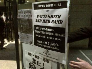 Patti Smith(パティ・スミス)@オーチャードホール(2013年1月24日)