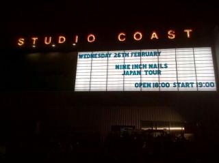 ナイン・インチ・ネイルズ(Nine Inch Nails)@Studio Coast 2014年2月26日