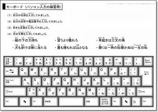 パソコンキーボードのイラスト画像(入力練習用)無料ダウンロード