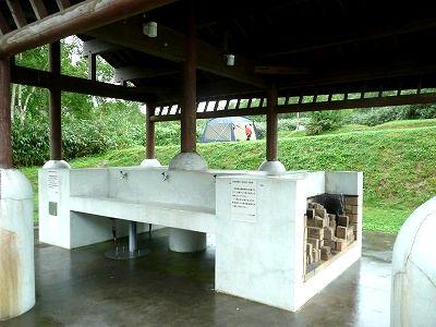 ニセコ野営場の炊事場