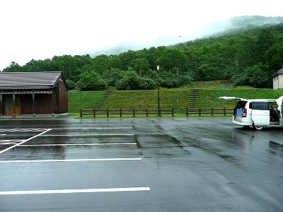 ニセコ野営場の駐車場