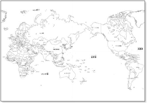 世界地図【国名・首都名入り ...