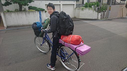 自転車で1人でキャンプへ行く息子