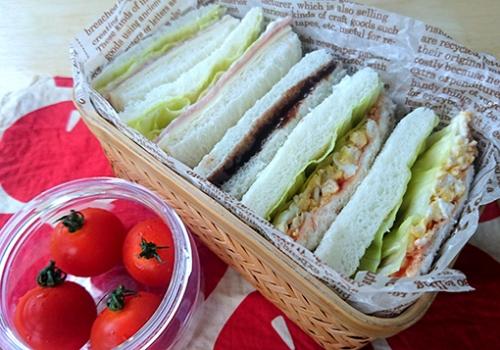 高校生弁当 サンドイッチ